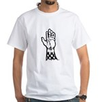 Two Tone Unite White T-Shirt