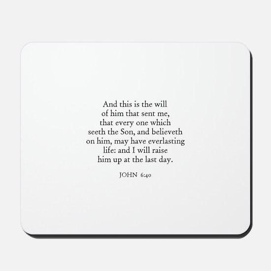 JOHN  6:40 Mousepad