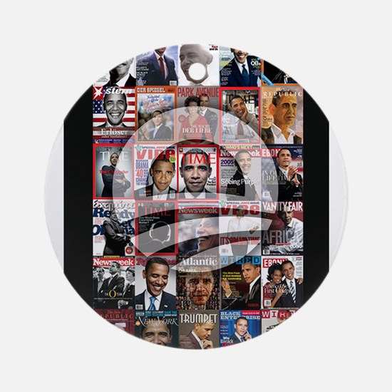 Obama Mag. Ornament (Round)