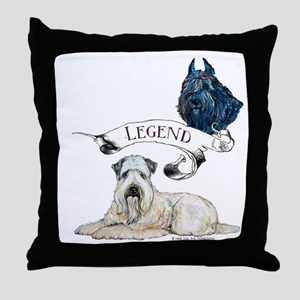 Milagro Bouvier des Flandres Throw Pillow