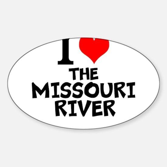 I Love The Missouri River Decal