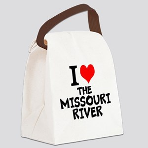 I Love The Missouri River Canvas Lunch Bag