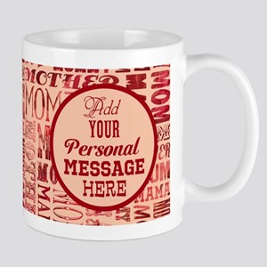 PERSONALIZED Mother Word Pattern Mugs
