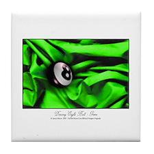 Billiards Xmas Greenery Tile Coaster