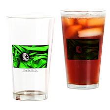 Billiards Xmas Greenery Drinking Glass