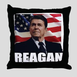 Ronald Reagan Throw Pillow
