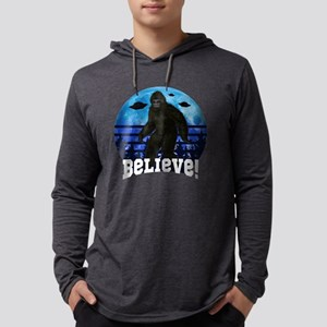 Bigfoot UFO Believe! Funny Moo Long Sleeve T-Shirt
