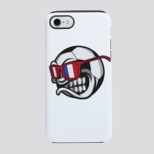 Angry France Soccer Ball wit iPhone 8/7 Tough Case