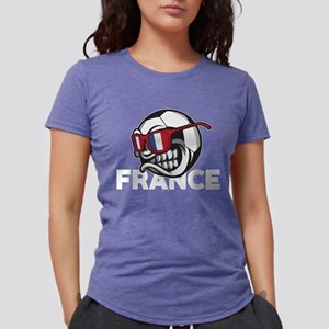 Angry France Soccer Ball with Sunglasses F T-Shirt