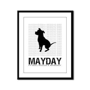 Mayday Pit Bull Rescue & Advo Framed Panel Pri