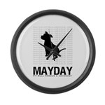 Mayday Pit Bull Rescue & Advo Large Wall Clock