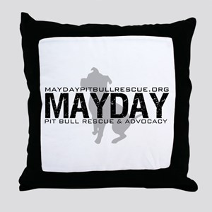 Mayday Pit Bull Rescue & Advo Throw Pillow