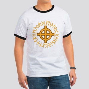 Celtic Cross and Runes T-Shirt