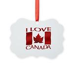 I Love Canada Souvenir Ornament