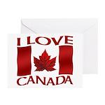 I Love Canada Souvenir Greeting Cards