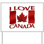 I Love Canada Souvenir Yard Sign