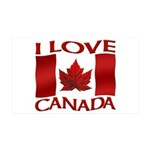 I Love Canada Souvenir Wall Decal