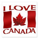 I Love Canada Souvenir Square Car Magnet 3