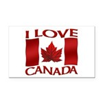 I Love Canada Souvenir Rectangle Car Magnet