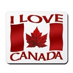 I Love Canada Souvenir Mousepad