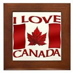I Love Canada Souvenir Framed Tile
