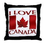 I Love Canada Souvenir Throw Pillow