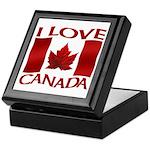 I Love Canada Souvenir Keepsake Box