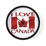 I Love Canada Souvenir Wall Clock
