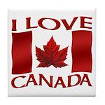 I Love Canada Souvenir Tile Coaster