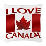 I Love Canada Souvenir Woven Throw Pillow