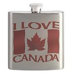 I Love Canada Souvenir Flask