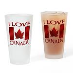 I Love Canada Souvenir Drinking Glass