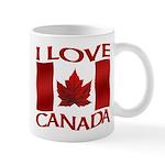 I Love Canada Souvenir Mugs