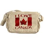 I Love Canada Souvenir Messenger Bag