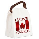 I Love Canada Souvenir Canvas Lunch Bag