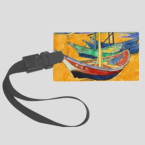 Van Gogh Boats Large Luggage Tag