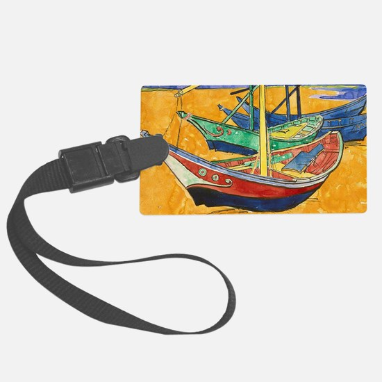 Van Gogh Boats Luggage Tag