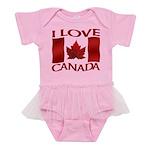 I Love Canada Souvenir Baby Tutu Bodysuit