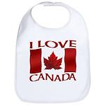 I Love Canada Souvenir Baby Bib