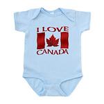 I Love Canada Souvenir Body Suit