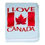 I Love Canada Souvenir baby blanket