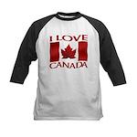 I Love Canada Souvenir Baseball Jersey