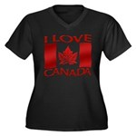 I Love Canada Souvenir Plus Size T-Shirt