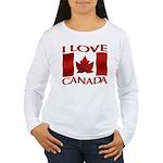 I Love Canada Souvenir Long Sleeve T-Shirt