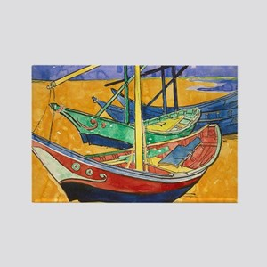 Van Gogh Boats Magnets