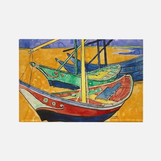 Van Gogh Boats Magnets