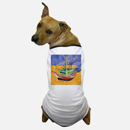 Van Gogh Boats Dog T-Shirt