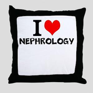 I Love Nephrology Throw Pillow