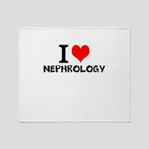 I Love Nephrology Throw Blanket