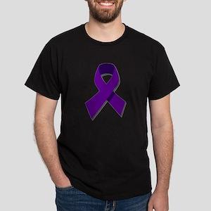 Purple Cancer Ribbon Dark T-Shirt